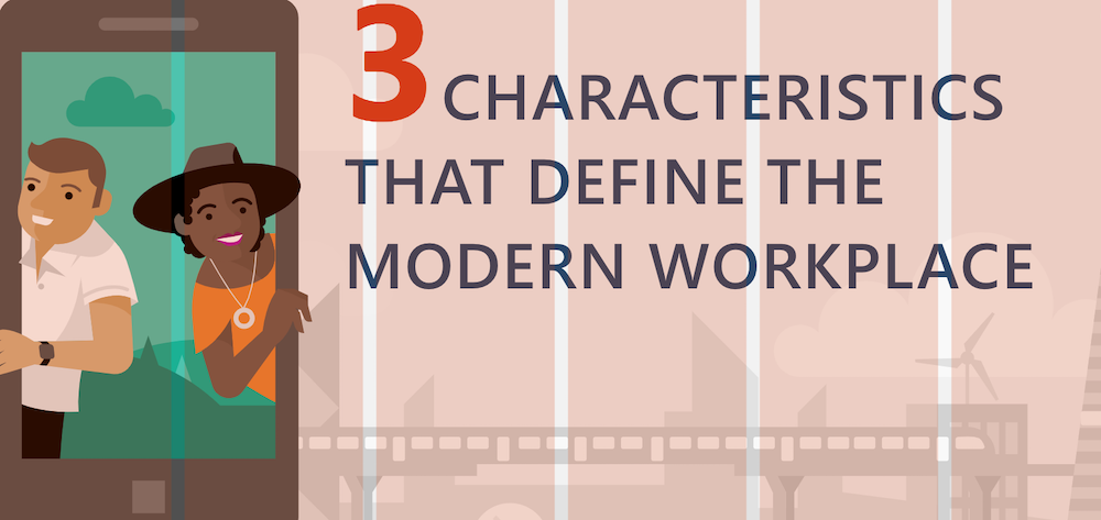 3 characteristics that define the modern workplace